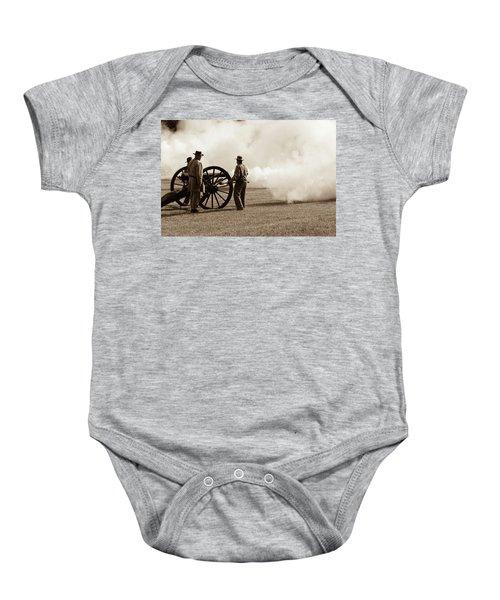 Civil War Era Cannon Firing  Baby Onesie