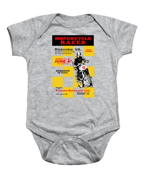 Classic Motorcycle Races Roanoke Virginia Baby Onesie