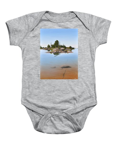 Clear Contentment Baby Onesie