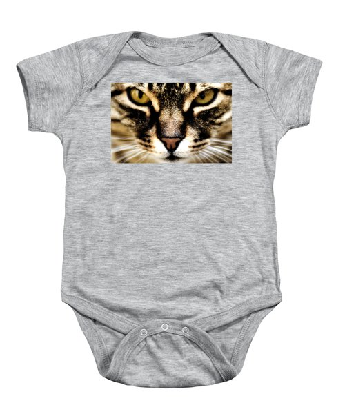 Close Up Shot Of A Cat Baby Onesie