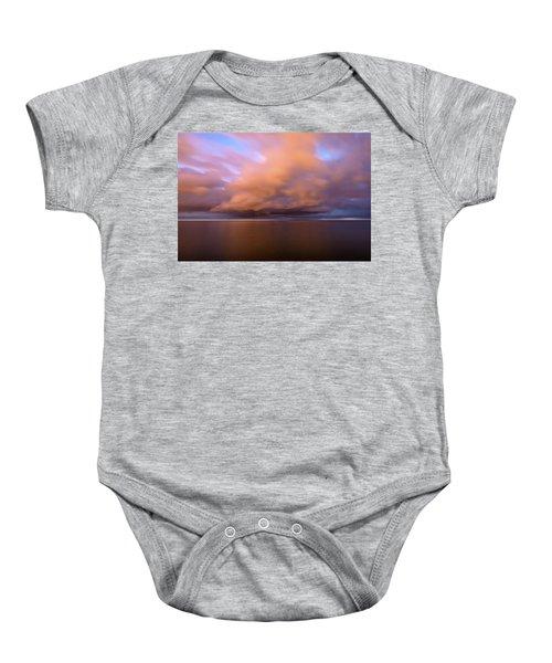 Cloud Motion At Dawn  Baby Onesie