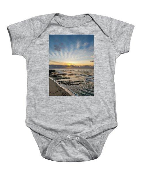 Cloud Rays Vertical Baby Onesie