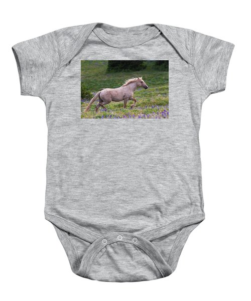 Cloud- Wild Stallion Of The West Baby Onesie