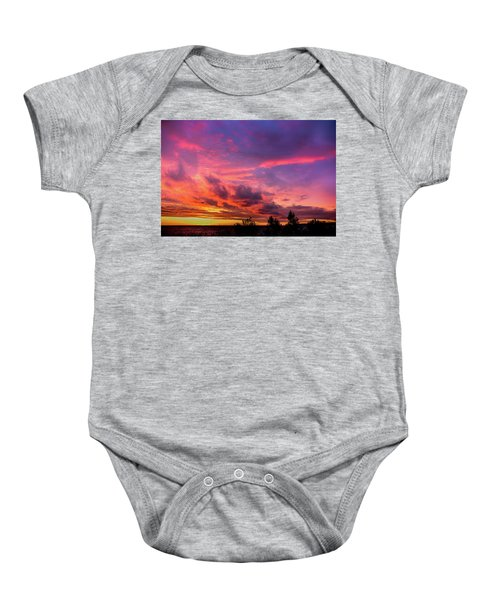 Clouds At Sunset Baby Onesie