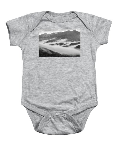 Baby Onesie featuring the photograph Clouds In Valley, Sa Pa, 2014 by Hitendra SINKAR