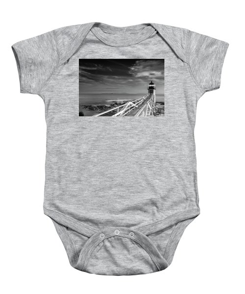 Clouds Over Marshall Point Lighthouse In Maine Baby Onesie