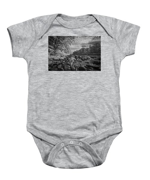 Clouds Over The River Rocks Baby Onesie