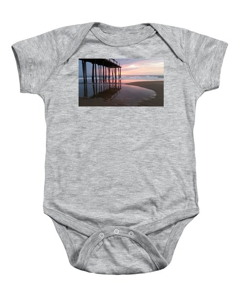 Cloudy Morning Reflections Baby Onesie
