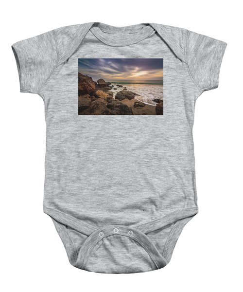 Cloudy Point Dume Sunset Baby Onesie