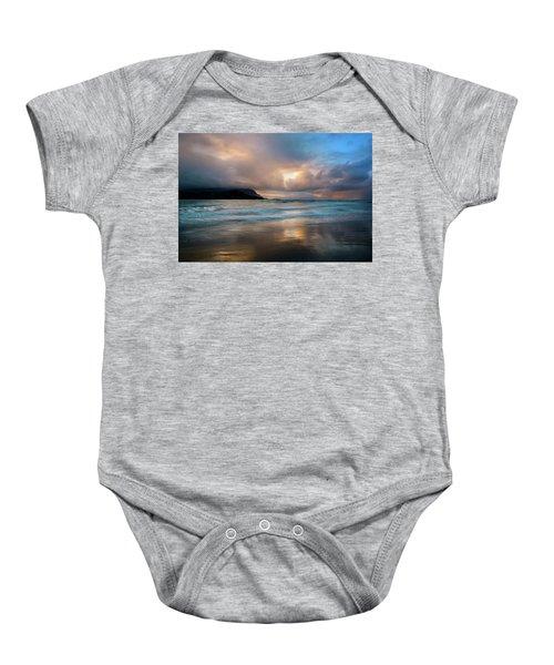 Cloudy Sunset At Hanalei Bay Baby Onesie
