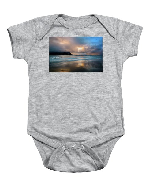 Cloudy Sunset At Hanalei Bay Baby Onesie