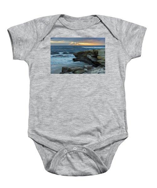 Cloudy Sunset At La Jolla Shores Beach Baby Onesie