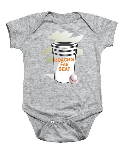 Coach's Favorite Seat Baby Onesie by Jerry Watkins
