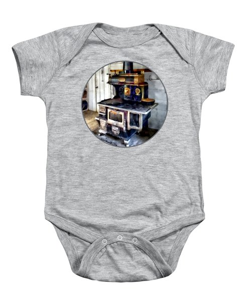 Coal Stove In Kitchen Baby Onesie