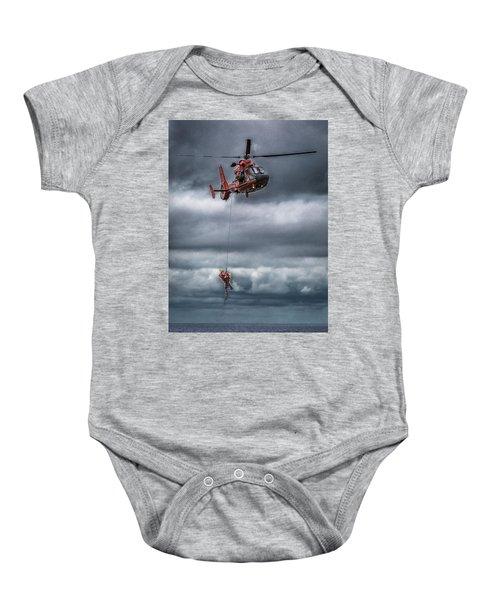 Coast Guard Rescue Operation  Baby Onesie