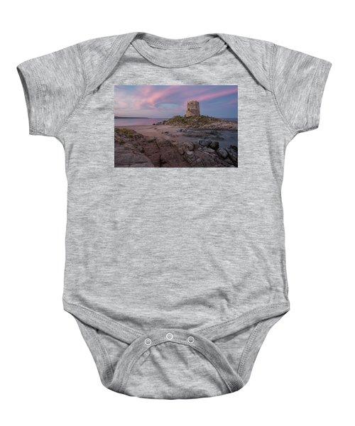 Coastal Tower At Sunset Baby Onesie