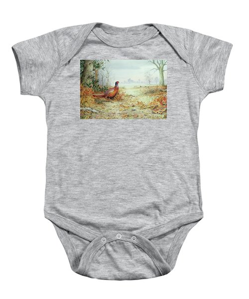 Cock Pheasant  Baby Onesie by Carl Donner