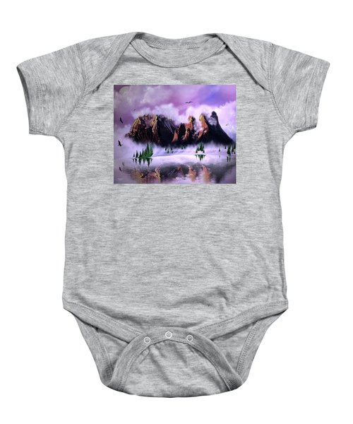 Cold Mountain Morning Baby Onesie