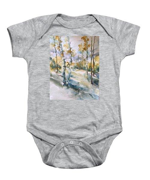 Colorado Aspens And Cottonwoods Baby Onesie
