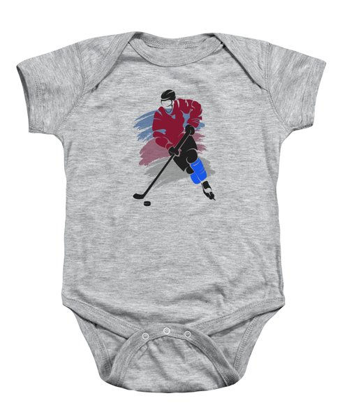 Colorado Avalanche Player Shirt Baby Onesie by Joe Hamilton