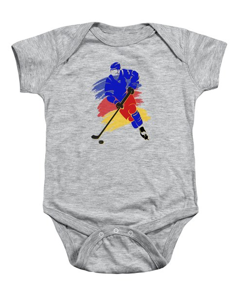 Colorado Rockies Player Shirt Baby Onesie by Joe Hamilton