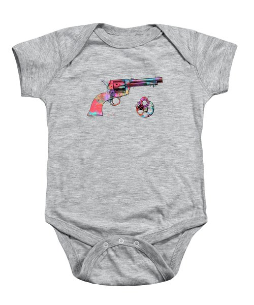 Colorful 1875 Colt Peacemaker Revolver Patent Minimal Baby Onesie