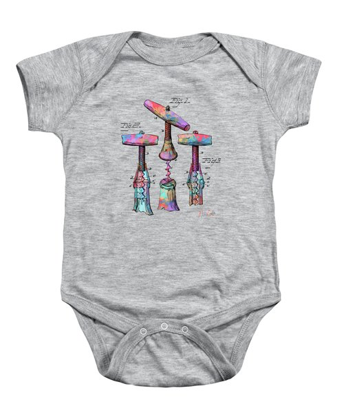 Colorful 1883 Wine Corckscrew Patent Baby Onesie