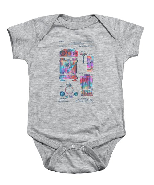 Colorful 1889 First Computer Patent Baby Onesie
