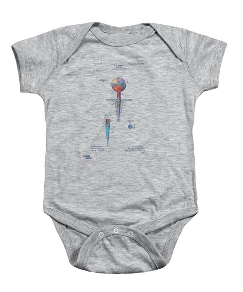 Colorful 1899 Golf Tee Patent Baby Onesie