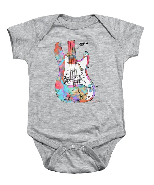 Colorful 1961 Fender Guitar Patent Baby Onesie