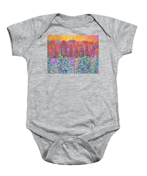 Colorful Garden Baby Onesie