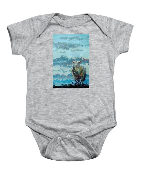 Colorful Sheep Art - Out Of The Stormy Sky Baby Onesie