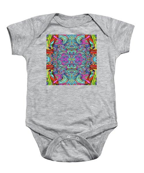 Colorful Swirly Design Baby Onesie