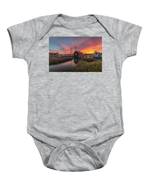 Colors Of Shem Creek - Mt. Pleasant Sc Baby Onesie