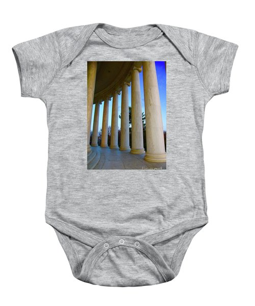 Columns At Jefferson Baby Onesie