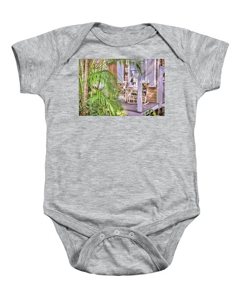 Come And Sit Awhile Baby Onesie