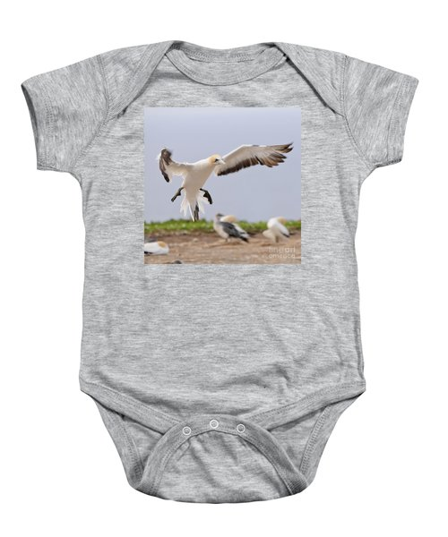Baby Onesie featuring the photograph Coming In To Land by Werner Padarin