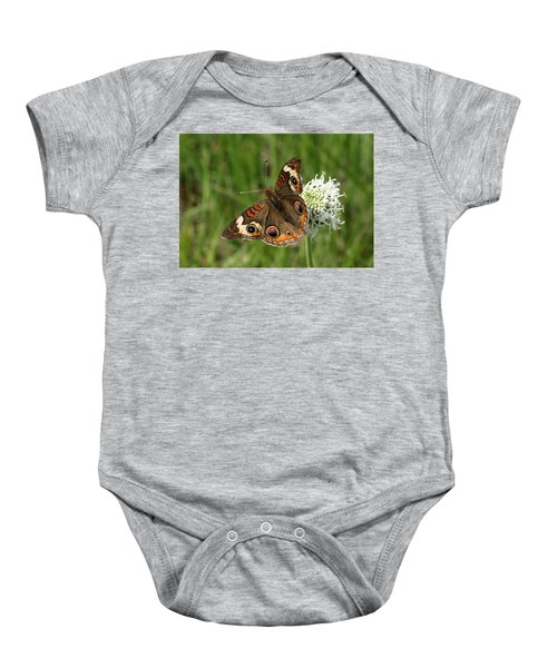 Common Buckeye Butterfly On Wildflower Baby Onesie