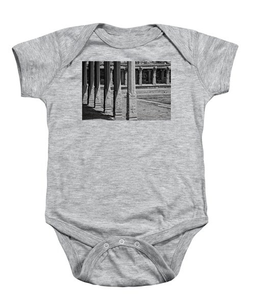 Baby Onesie featuring the photograph Composition Of Pillars, Hampi, 2017 by Hitendra SINKAR