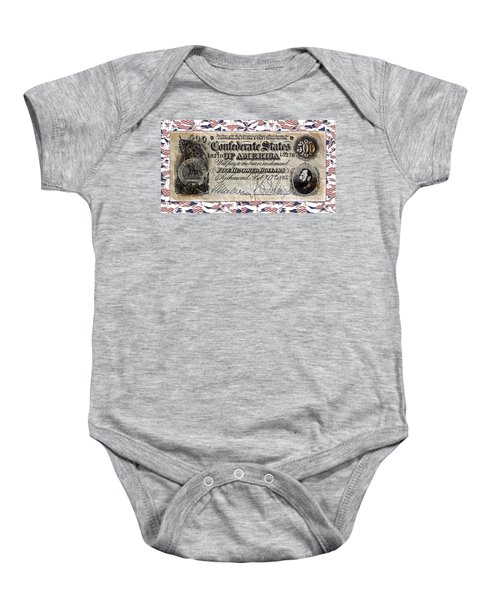 Confederate Money Baby Onesie