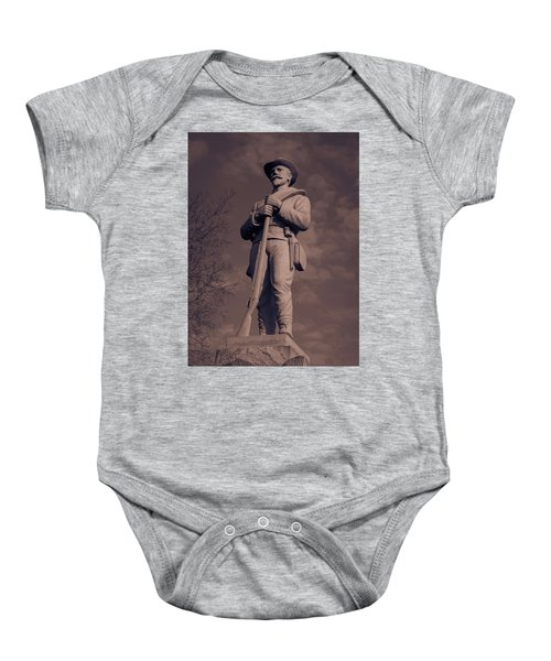 Confederate Statue  Standing Guard Baby Onesie