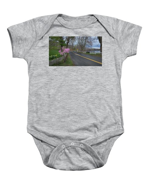 Baby Onesie featuring the photograph Connecticut Country Road by Bill Wakeley
