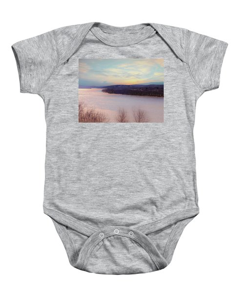 Connecticut River View From Gillette Castle. Baby Onesie