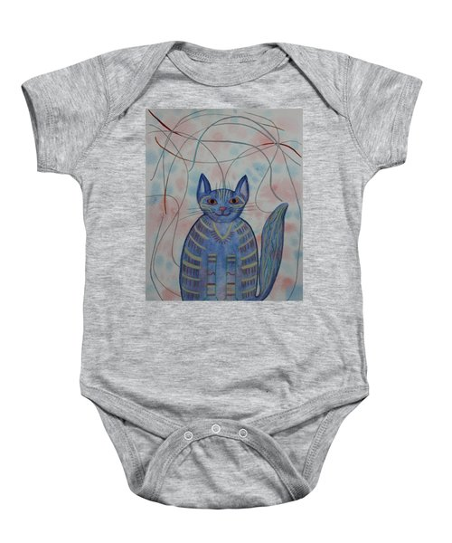 Connection Cat  Baby Onesie