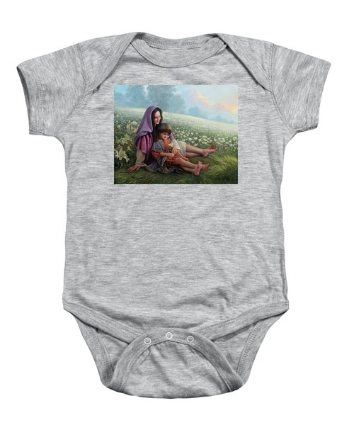 Consider The Lilies Baby Onesie