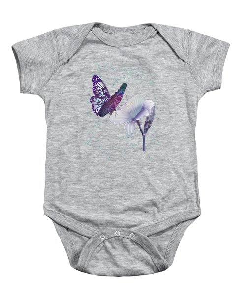 Contemporary Painting Of A Dancing Butterfly  Baby Onesie