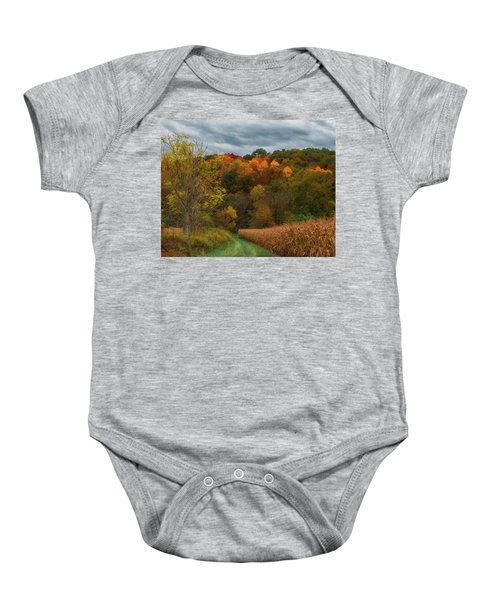 Cornfield In Fall  Baby Onesie