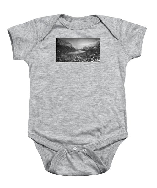 Baby Onesie featuring the photograph Cotton Candy Blankets Yosemite by Lora Lee Chapman