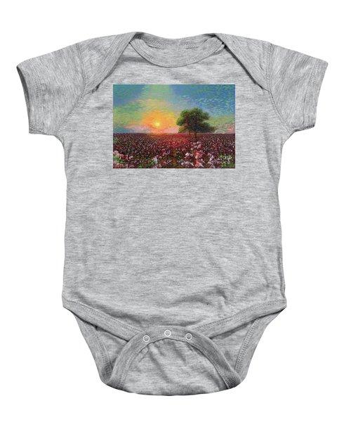 Cotton Field Sunset Baby Onesie