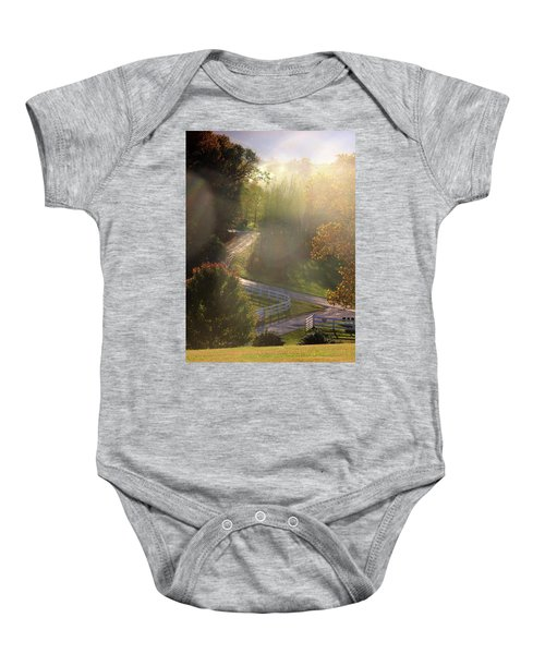 Country Road In Rural Virginia, With Trees Changing Colors In Autumn Baby Onesie